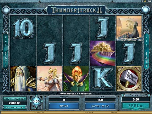 thunderstruck II video slot